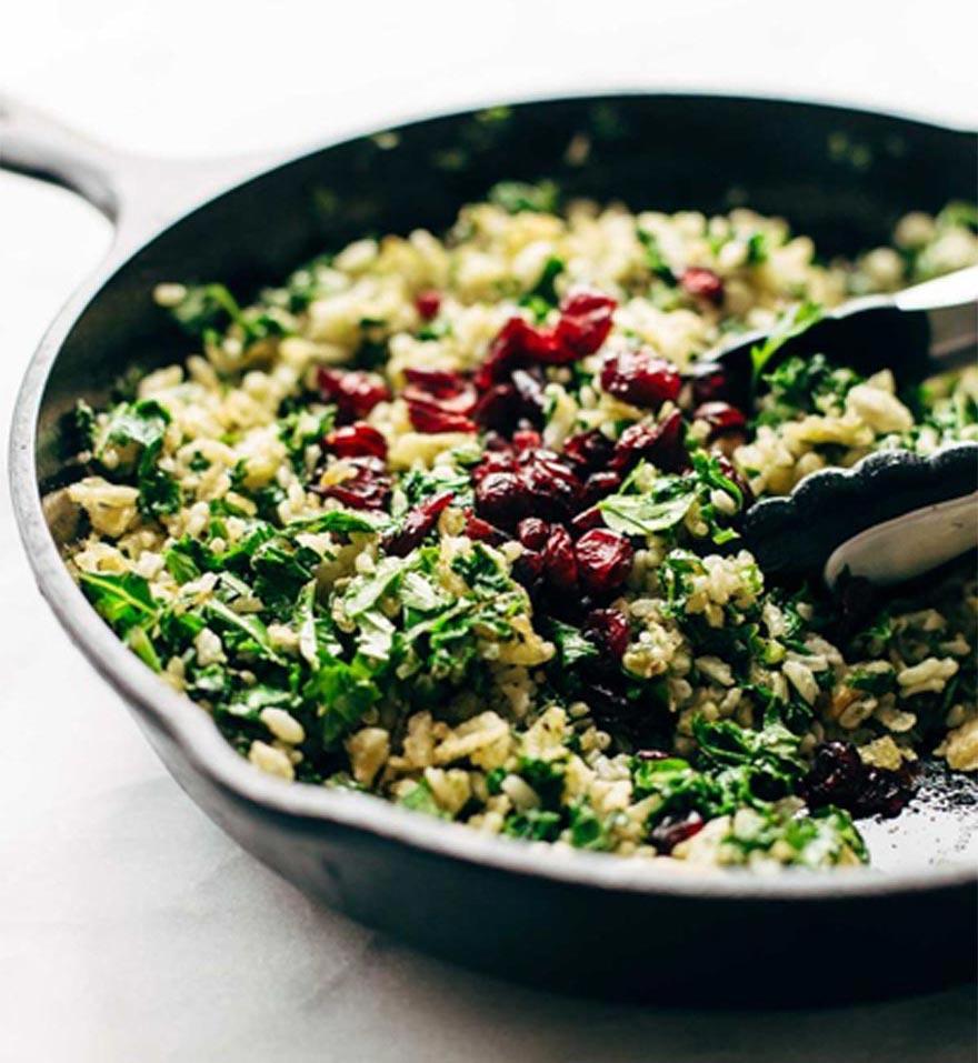 Mediterranean Rice & Kale Summer Salad